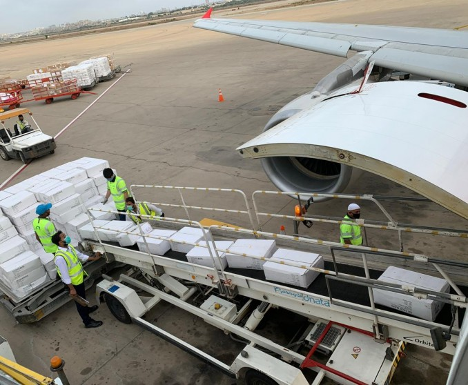 Air Arabia operates weekly cargo flights supporting requirements for essential goods and services!