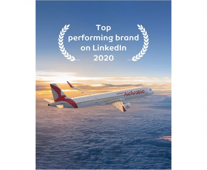 Air Arabia received the top performing brand for the year of 2020 on LinkedIn!